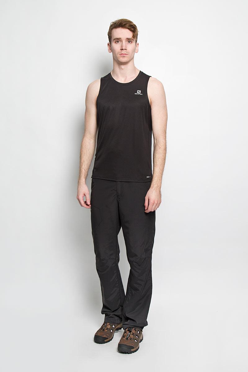Майка мужская Salomon Agile Tank, цвет: черный. L37221500. Размер XL (56/58)