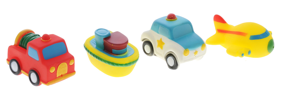 Alex Toys Набор игрушек для ванной Транспорт 4 шт alex набор для изготовления игрушек динозавры