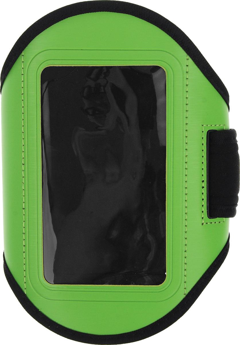 Чехол для телефона Sapfire, на руку, цвет: черный, зеленый0923-SAMСпортивный чехол для телефона на предплечье Sapfire регулируется под любой размер бицепса. Он выполнен из полиуретана и лайкры. Специальный ремень позволяет плотно закрепить смартфон на руке, что гарантирует его сохранность во время спортивных занятий.Отделка из дышащей ткани исключает раздражение кожи в месте крепления.Чехол подойдет для Iphone 4,4s и других устройств с большим экраном.Максимальный размер экрана: 5,1 дюйма.Чехол также оснащен маленьким кармашком для ключа.Максимальный обхват руки: 34 см.Минимальный обхват руки: 23 см.