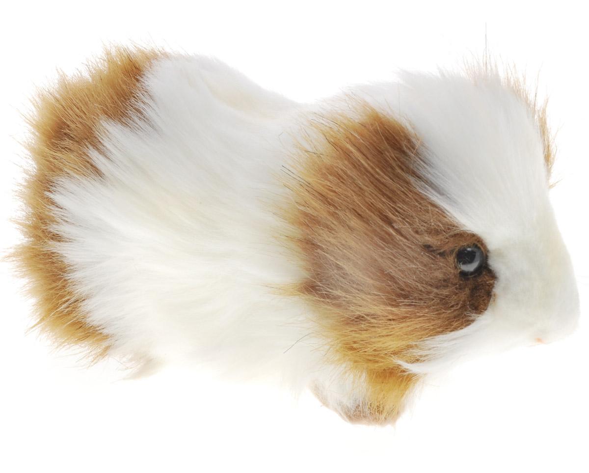 Hansa Мягкая игрушка Морская свинка цвет белый коричневый 20 см бобёр 20 см hansa