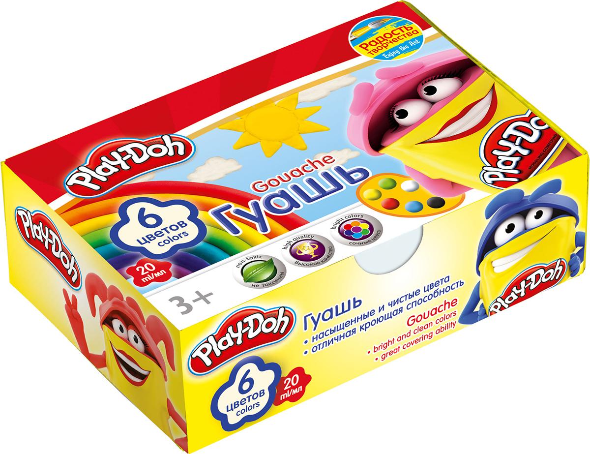Play-Doh Краски гуашевые 6 цветов play doh набор для лепки магазинчик печенья play doh