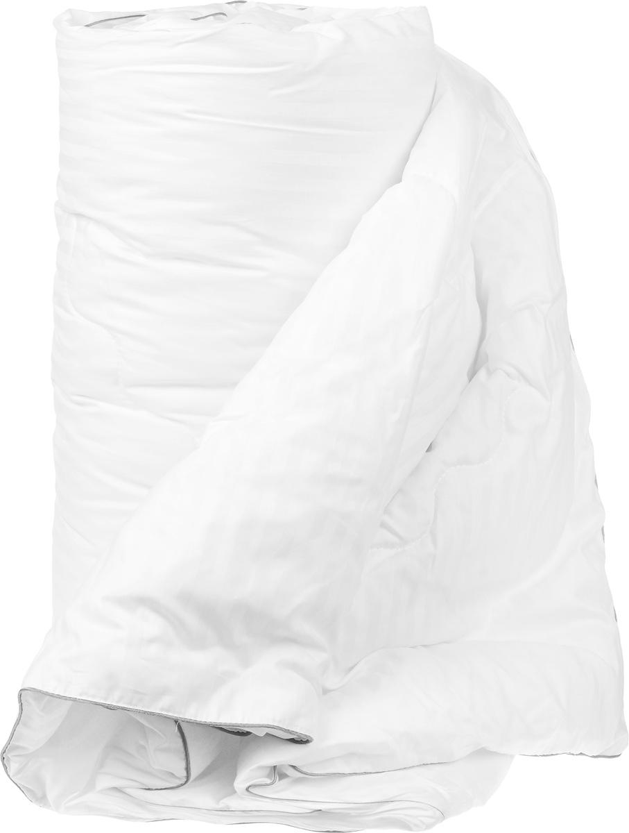 Одеяло теплое Легкие сны Элисон, наполнитель: лебяжий пух, 200 х 220 см200(42)03-ЛПТеплое одеяло Легкие сны Элисон поможет расслабиться,снимет усталость и подарит вам спокойный и здоровый сон. В качестве наполнителя используется синтетическийсверхтонкий и практически невесомый материал, названныйлебяжьим пухом. Изделия с наполнителем изискусственного пуха легкие, мягкие и не вызывают аллергии. Чехол изделия выполнен из белоснежного сатина (100%хлопок) с тиснением страйп (полосы). Одеяло простегано иотделано по краю атласным кантом серого цвета.Одеяло с таким наполнителем практично, легко стирается ибыстро сохнет, сохраняя свои первоначальные свойства.Можно стирать в стиральной машине.