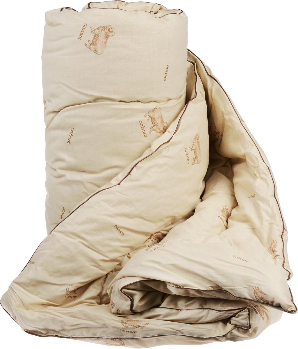 Одеяло теплое Легкие сны Полли, наполнитель: овечья шерсть, 200 x 220 см одеяла легкие сны одеяло перси теплое 172х205 см