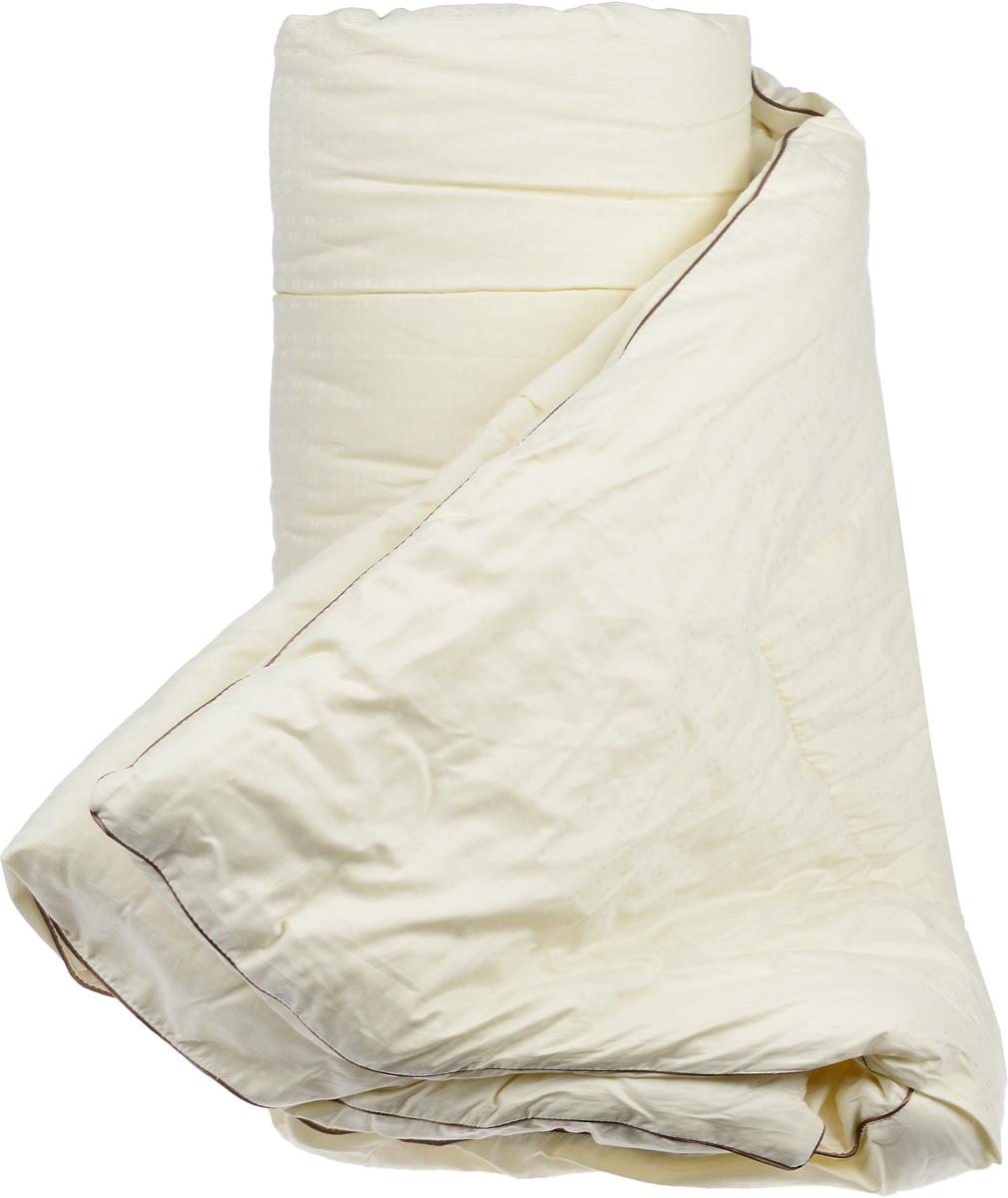 Одеяло теплое Легкие сны Милана, наполнитель: шерсть кашмирской козы, 200 х 220 см200(34)03-КШТеплое одеяло Легкие сны Милана с наполнителем из шерсти кашмирской козы расслабит, снимет усталость и подарит вам спокойный и здоровый сон. Пух горной козы не содержит органических жиров, в нем не заводятся пылевые клещи, вызывающие аллергические реакции. Он очень легкий и обладает отличной теплоемкостью. Одеяла из такого наполнителя имеют широкий диапазон климатической комфортности и благоприятно влияют на самочувствие людей, страдающих заболеваниями опорно-двигательной системы.Шерстяные волокна, получаемые из чесаной шерсти горной козы, имеют полую структуру, придающую изделиям высокую износоустойчивость.Чехол одеяла, выполненный из сатина (100% хлопка), отлично пропускает воздух, создавая эффект сухого тепла.Одеяло простегано и окантовано. Стежка надежно удерживает наполнитель внутри и не позволяет ему скатываться. Плотность наполнителя: 300 г/м2.
