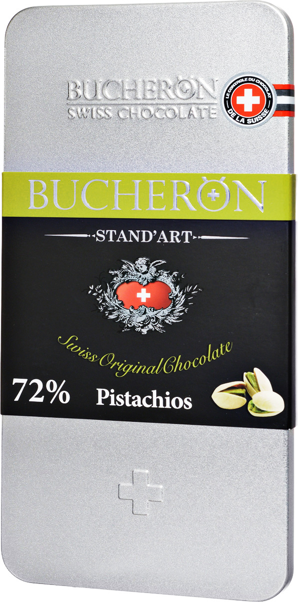 Bucheron Горький швейцарский шоколад с фисташками, 100 г bucheron молочный шоколад с фисташками 100 г