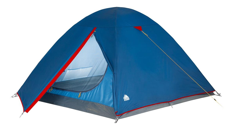 Палатка трехместная Trek Planet Dallas 3, цвет: синий палатка трехместная с тамбуром двухслойная boyscout 61080