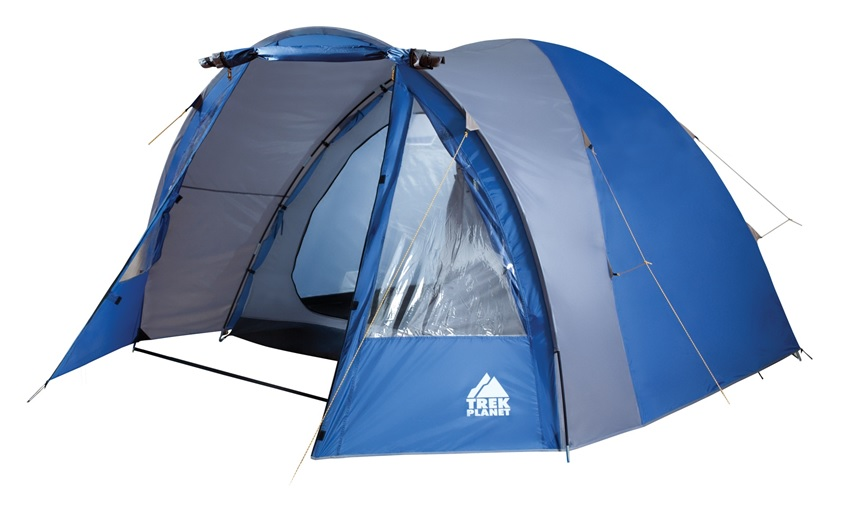 Палатка пятиместная TREK PLANET Indiana 5, цвет: синий, серый70114Пятиместная двухслойная кемпинговая высокая палатка TREK PLANET Indiana 5 с хорошей вентиляцией и большим и светлым тамбуром, хорошо подойдет для кемпинга выходного дня или отдыха на природе с семьей.Особенности модели:- Простая и быстрая установка,- Тент палатки из полиэстера с пропиткой PU надежно защищает от дождя и ветра. - Все швы проклеены.- Высокий, вместительный и светлый тамбур,- Большие обзорные окна в тамбуре,- Дно из прочного водонепроницаемого армированного полиэтилена позволяет устанавливать палатку на жесткой траве, песчаной поверхности, глине и т.д.- Дуги из прочного стеклопластика;- Внутренняя палатка из дышащего полиэстера, обеспечивает вентиляцию помещения и позволяет конденсату испаряться, не проникая внутрь палатки;- Вентиляционное окно в спальном отделении,- Удобная D-образная дверь на входе во внутреннюю палатку,- Москитная сетка на входе в спальное отделение в полный размер двери,- Внутренние карманы для мелочей во внутренней палатке,- Возможность подвески фонаря в палатке;Для удобства транспортировки и хранения предусмотрен чехол из полиэстера, с двумя ручками и закрывающийся на застежку-молнию. Количество мест: 5Цвет: синий, серый.Размер палатки: 310 х (220+170) х 195 см.Размер внутренней палатки: 310 х 220 х 195 см.Материал внешнего тента: 100% полиэстер, пропитка PU.Водостойкость: 2000 мм.Материал внутренней палатки: 100% дышащий полиэстер.Материал пола: 100% полиэтилен.Материл дуги: стеклопластик 11 мм.Размер в сложенном виде: 22 см х 22 см х 68 см.Вес палатки: 9,6 кг.