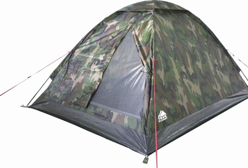 Палатка четырехместная TREK PLANET Fisherman 4, цвет: камуфляж палатка четырехместная trek planet hudson 4 цвет серый оранжевый