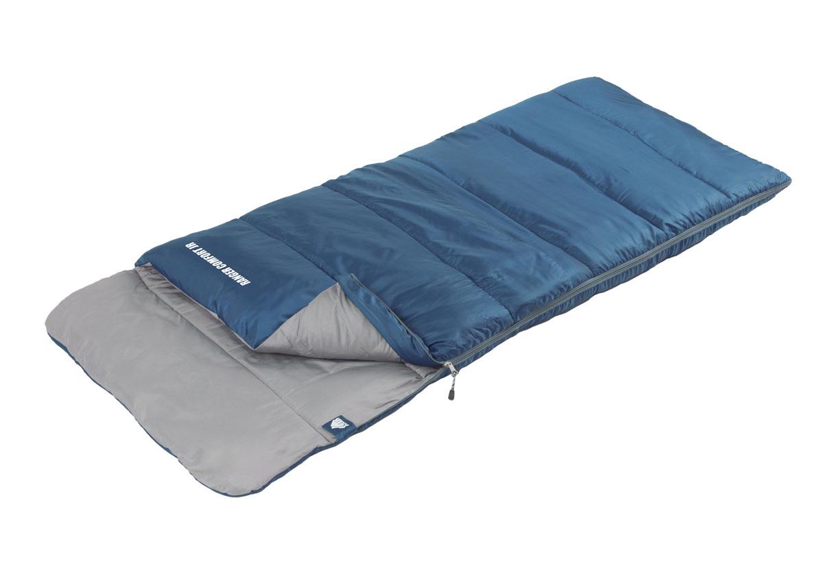 Спальный мешок Trek Planet Ranger Comfort Jr, цвет: синий, левосторонняя молния70314-LКомфортный, легкий и очень удобный в использовании спальник-одеяло с подголовником, для детей и подростков TREK PLANET Ranger Comfort Jr предназначен для походов преимущественно в летний период. Этот спальник пригодится вам также во время поездки на пикник, на дачу, или во время туристического похода.ОСОБЕННОСТИ СПАЛЬНИКА:- Удобный плоский капюшон, - Молния имеет два замка с обеих сторон - Термоклапан вдоль молнии, - Молния с левой стороны, - Внутренний карман, - Небольшой вес, - К спальнику прилагается чехол для удобного хранения и переноски.t° комфорт: 14°C t° лимит комфорт: 9°C t° экстрим: 0°C. Внешний материал: 100% полиэстерВнутренний материал: 100% полиэстер Утеплитель: Hollow Fiber 1 x 200 г/м2. Размер: (160+25) х 70 см. Размер в чехле: 17 х 17 х 32 см. Вес: 0,8 кг.Что взять с собой в поход?. Статья OZON Гид