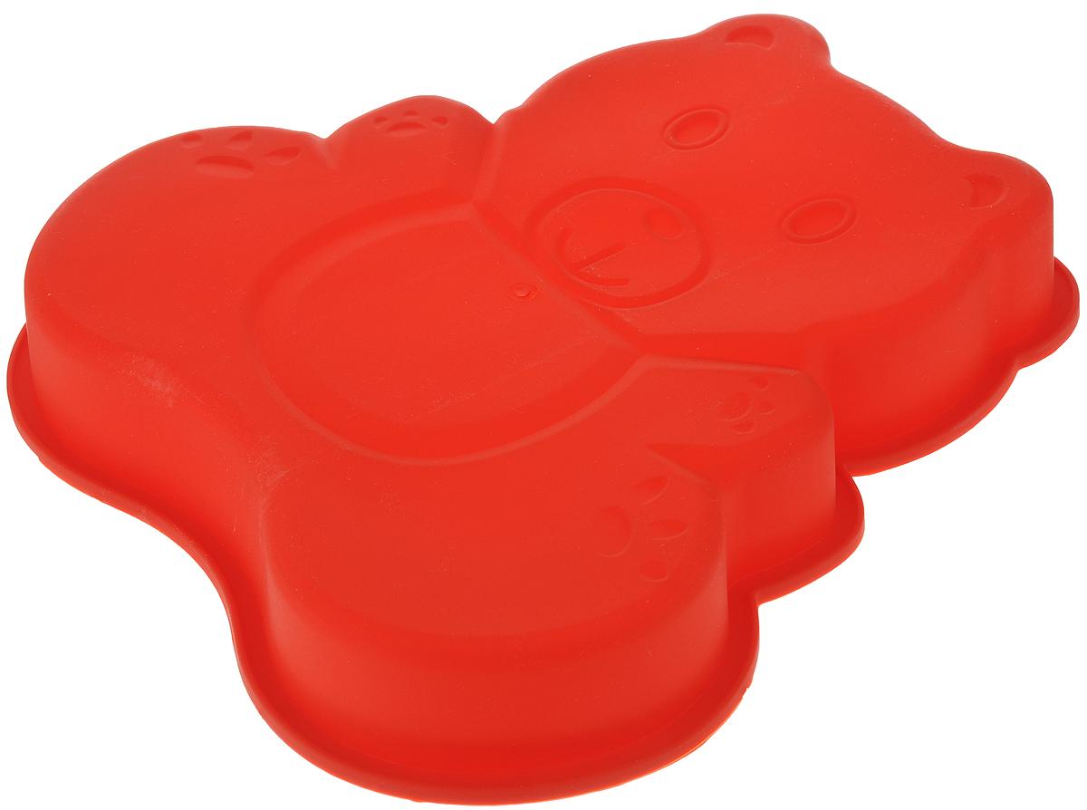 Форма для выпечки Bekker Медвежонок, силиконовая, 25 х 24,5 х 4 смВК-9420_красныйФорма для выпечки Bekker Медвежонок изготовлена из качественного пищевого силикона. Силиконовые формы для выпечки имеют множество преимуществ по сравнению с традиционными металлическими формами и противнями.За счет высокой теплопроводности силикона изделия выпекаются заметно быстрее. Благодаря гибкости и антиприлипающим свойствам силикона, готовая выпечка легко извлекается из формы. Для этого достаточно отогнуть края и вывернуть форму (выпечке дайте немного остыть, а замороженный продукт лучше вынимать сразу). Силикон абсолютно безвреден для здоровья, не впитывает запахи, не оставляет пятен, легко моется. Форма для выпечки Bekker Медвежонок - практичный и необходимый подарок любой хозяйке!Форма идеально подходит для использования в микроволновых, газовых и электрических печах при температурах до +230°С. В случае заморозки до -40°С. Можно мыть в посудомоечной машине.