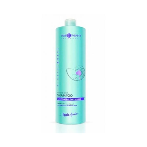 Hair Company Шампунь для волос с минералами и экстрактом жемчуга Professional Light Mineral Pearl Shampoo 1000 мл255886Великолепная сбалансированная формула с минералами и экстрактом жемчуга в составе. Питает волосы от корней до самых кончиков, придаёт им блеск и силу. Делает волосы более объёмными, сияющими и шелковистыми. Локоны легко расчёсываются. Экстракт жемчуга в составе, дарит волосам сияние и силу.Результат применения – сияющие и шелковистые волосы!
