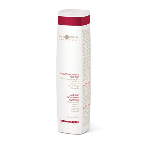 Hair Company Маска питательная против старения волос Double Action Anti-Age 250 мл252786/LB11659 RUSМаска питательная против старения волос Hair Company Double Action Anti-Age Nourishing Compress увлажняет и защищает волосы, придавая им блеск и сияние. Стволовые клетки растительного происхождения из незрелого винограда действуют как антиоксиданты, аргановое масло вместе с витамином E и пантенолом, замедляют формирование радикалов, восстанавливая структуру волос.