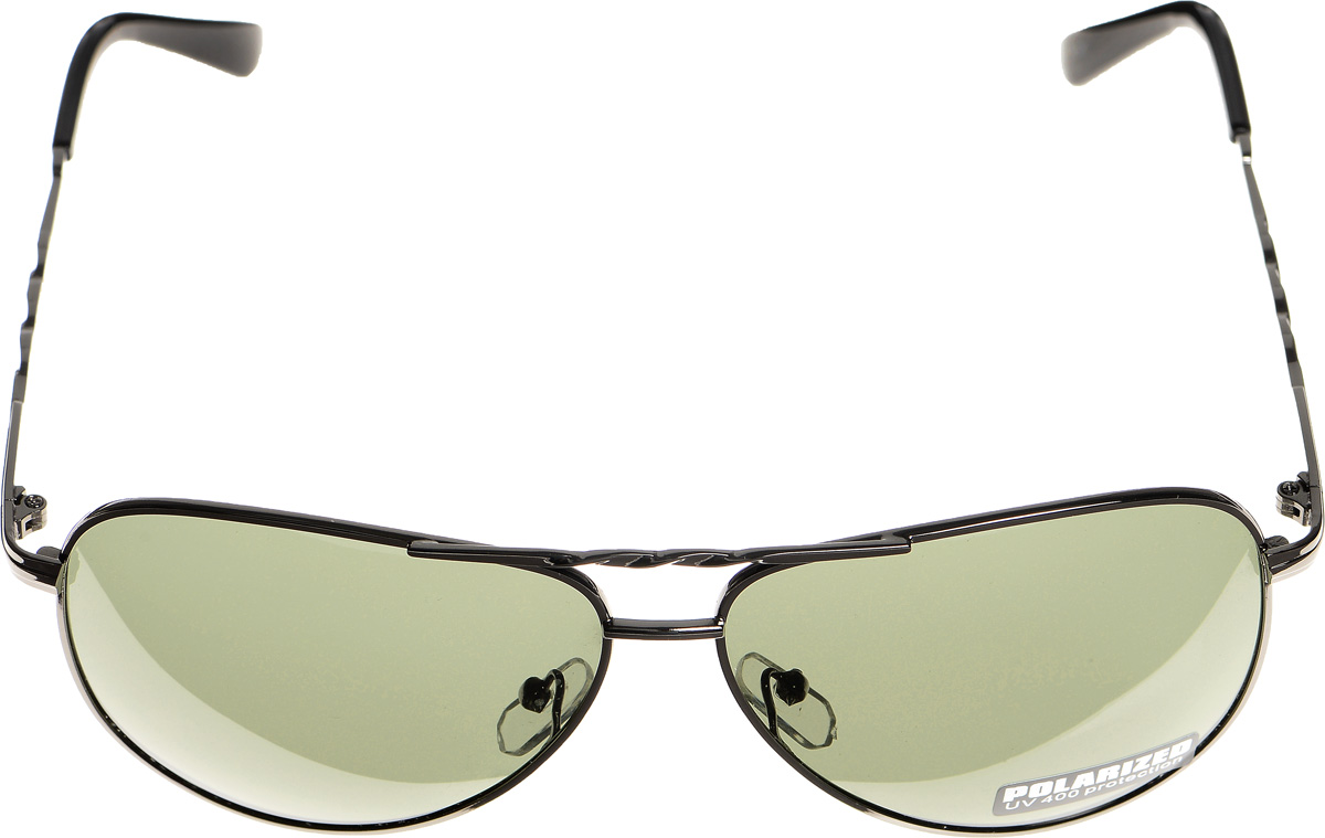 Очки солнцезащитные женские Selena, цвет: зеленый, темно-серый. 80032991
