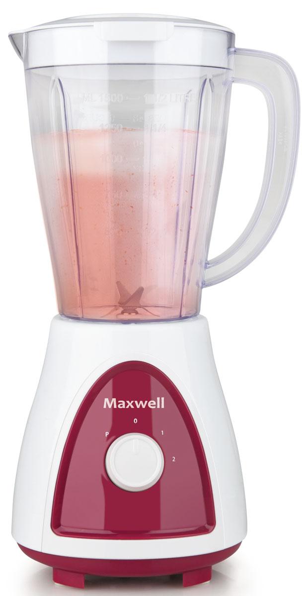 Maxwell MW-1171(BD) блендерMW-1171(BD)Блендер Maxwell MW-1171(BD) позволят сделать ваш повседневный рацион питания более разнообразным. Данная техника рассчитана на измельчение разных видов продуктов. При помощи него вы без труда измельчите овощи, смешаете тесто, приготовите коктейли и соки, взобьете кремы, раздробите кусочки льда и многое другое. При своей высокой функциональности блендер не занимает много места на кухонном столе. Он весьма компактен, а наличие нескольких режимов работы позволит без труда получить желаемый результат при измельчении продуктов.Пользоваться настольным блендером Maxwell MW-1171(BD) настоящее удовольствие. Включив прибор в сеть, вам потребуется лишь загрузить продукты в емкость и выбрать подходящий режим работы. Всего лишь несколько секунд потребуется для измельчения или смешивания продуктов.