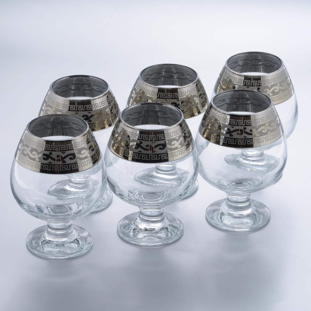 Набор бокалов для бренди Гусь-Хрустальный Версаче, 400 мл, 6 шт набор 6 бокалов юнона с рисунком версаче 210 мл