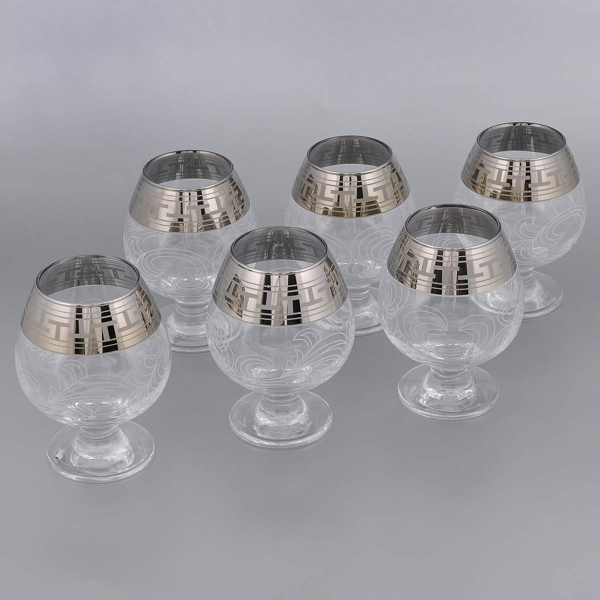 Набор бокалов для бренди Гусь-Хрустальный Греческий узор, 400 мл, 6 шт набор бокалов для бренди гусь хрустальный версаче 400 мл 6 шт
