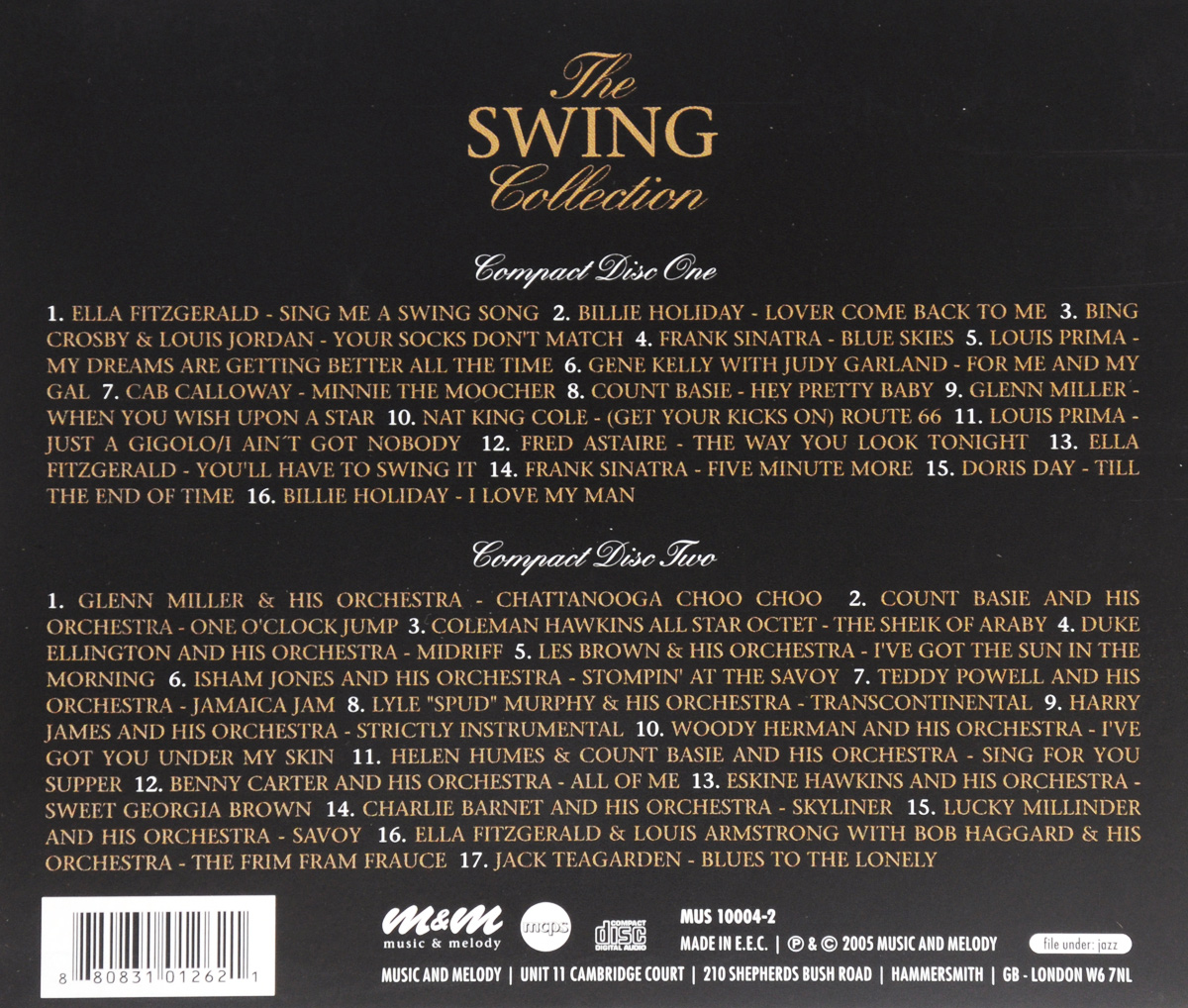 The Swing Collection (2 CD) Music& Melody,Союз Мьюзик
