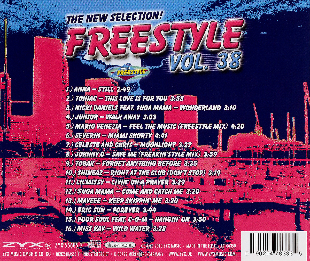 The New Selection! Freestyle.  Vol.  38 ZYX Music,Волтэкс-инвест