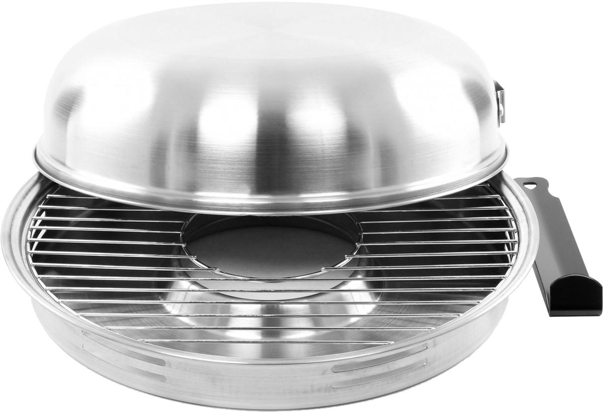 Сковорода Гриль-газ, со съемной ручкой. Диаметр 32,8 смD-504Сковорода Гриль-газ выполнена из высококачественной нержавеющей стали 304. Этот металл безопасен, при нагревании и контакте с пищей не выделяет никаких вредных веществ. Кроме того, нержавеющая сталь не подвергается коррозии, что позволяет продлить срок эксплуатации. Изделие оснащено съемной ручкой. Сковорода идеально подходит для приготовления мяса и рыбы без жира. С данным изделием вы получите здоровые и легкие блюда без жиров, дыма и запахов. Книга рецептов в подарок.Диаметр крышки: 31,5 см.Высота крышки: 8,3 см.Диаметр поддона: 32,8 см.Высота поддона: 4,5 см.Устойчивость к коррозии: 10.Устойчивость к стиранию: 9.Износостойкость (долговечность): 9.Антипригарные свойства: 7.Толщина дна: 0,6 мм.Толщина крышки: 0,6 мм.Твердость покрытия: 5Н.Максимальная температура разогрева: 400°С.