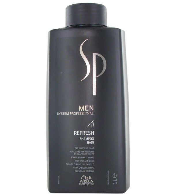 Wella SP Освежающий шампунь Men Refresh Shampoo, 1000 мл81311350Освежающий шампунь Refresh Shampoo оказывает интенсивное освежающее и охлаждающее действие на волосы, придает бодрость для активного начала дня. Шампунь дарит волосам необходимый объем, обеспечивая максимально эффективное кондиционирование и быстро насыщая волосы и кожу головы приятной прохладой. Освежающая энергия севера, подпитываемая ментолом, придаст вам энергии на целый день.