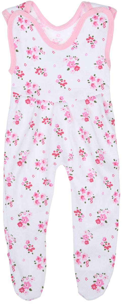 Ползунки с грудкой для девочки Трон-плюс, цвет: белый, розовый, зеленый. 5211_ОЗ14_цветы. Размер 74, 9 месяцев5211_ОЗ14_цветыПолзунки с грудкой для девочки Трон-плюс - очень удобный и практичный вид одежды для малышей. Они отлично сочетаются с футболками и кофточками, подходят для ношения с подгузником и без него. Ползунки выполнены из натурального хлопка, благодаря чему они очень мягкие и приятные на ощупь, не раздражают нежную кожу ребенка и хорошо вентилируются, обеспечивая комфорт. Ползунки с закрытыми ножками (след отрезной) застегиваются сверху на две кнопки, что помогает с легкостью переодеть малышку. Спереди модели заложены небольшие складки. Изделие оформлено цветочным принтом.Ползунки полностью соответствуют особенностям жизни младенца в ранний период, не стесняя и не ограничивая его в движениях.