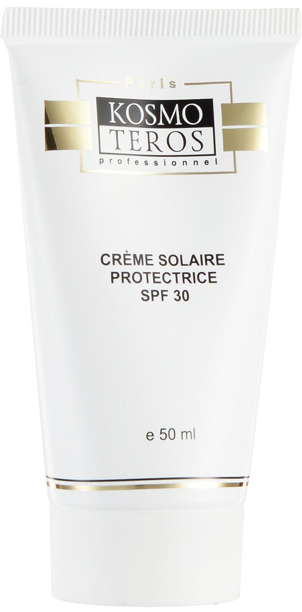 Kosmoteros Крем солнцезащитный SPF30 Creme Solaire Protecteur SPF 30 - 50 мл5056Инновационное средство защиты от солнца с UVA и UVB-фильтрами для лица, с увлажняющими и антиоксидантными свойствами. Революционная технология «полой сферы» обеспечивает более высокий показатель защиты при минимальном введении органических фильтров, что снижает потенциальный риск раздражения кожи.Обеспечивает полную защиту эпидермиса и дермы от повреждений, вызываемых солнечными лучами. Обладает универсальной текстурой, комфортной для любого типа кожи, содержит увлажняющие и питательные компоненты.Основные активные компоненты: саносферы, масло ши, лецитин, витамин Е, аллантоин, гиалуроновая кислота.Показания к применению: независимо от сезона в качестве защитного дневного крема для кожи, склонной к появлению пигментных пятен. В сезон активного солнца и после агрессивных салонных процедур (химические пилинги, дермабразия, и т. д) является обязательным элементом программы ухода за кожей лица и тела.