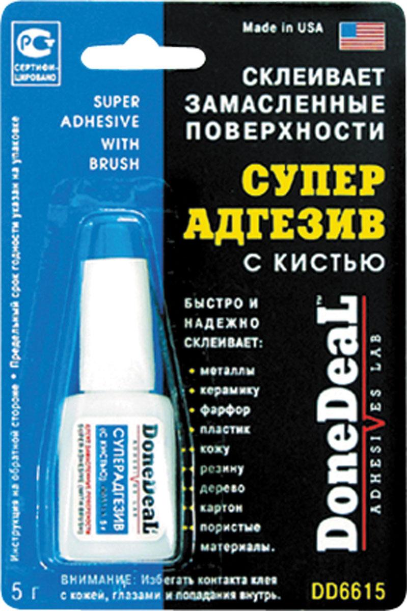 Суперадгезив с кистью Done Deal, 5 г. DD 6615DD 6615Суперадгезив с кистью Done Deal выдерживает воздействие высоких температур и большинства агрессивных жидкостей. Склеивает замасленные и загрязненные поверхности. Суперадгезив обладает хорошей адгезией к замасленным, загрязненным и пористым поверхностям. Не стекает. Характеристики: Состав - цианакрилат, добавки.Термоустойчивость - от -50°С до +95 °С. Прочность соединения - 204 кг/см2. Время схватывания - 15 сек. Время отвердевания - 2 мин. Время полной полимеризации - 24ч. Быстро и надежно склеивает: металлы; керамику; пластик; резину; фарфор; кожу; дерево; картон; пористые материалы.