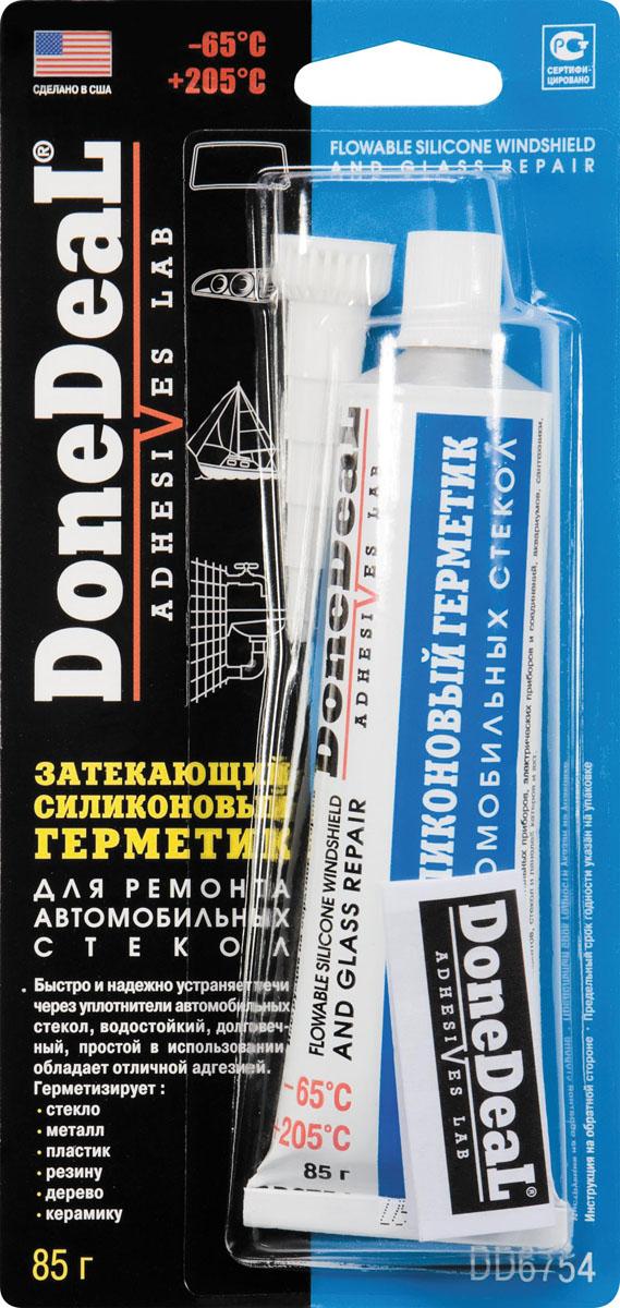 Герметик Done Deal, силиконовый, для ремонта стекол, 85 г. DD 6754 набор для ремонта камер и надувных резиновых изделий done deal dd 0332
