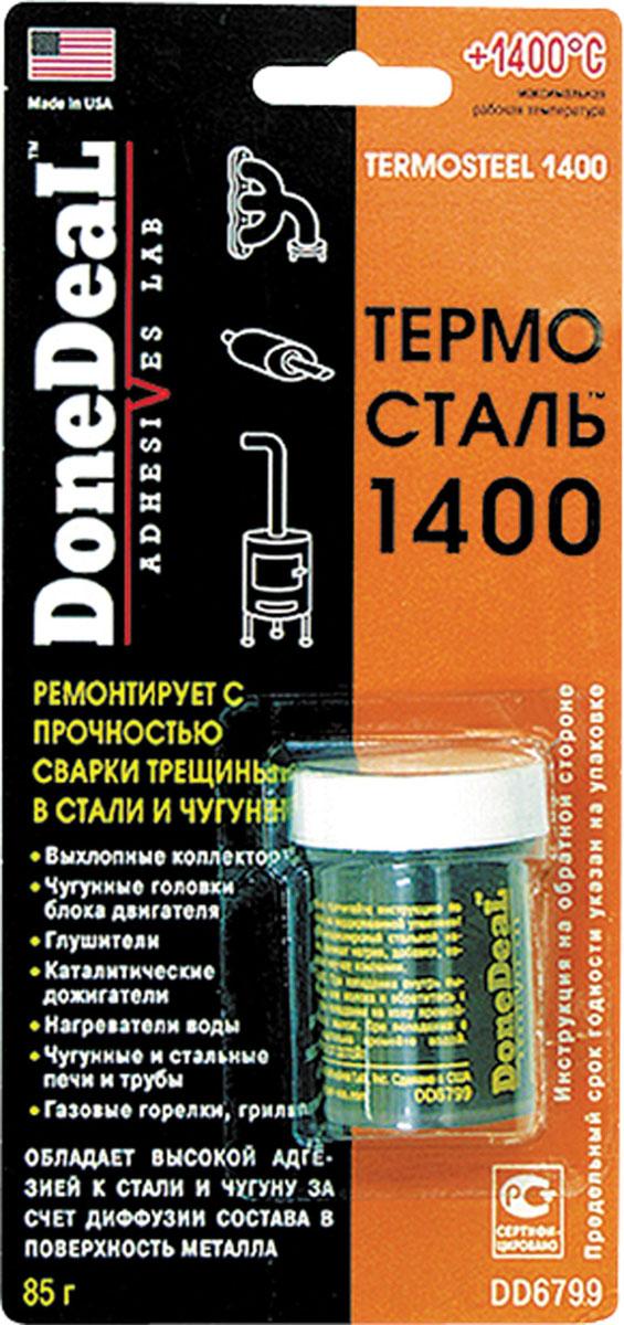 Герметик Done Deal Термосталь 1400, сверхпрочный, ремонтный, 85 г. DD 6799 набор для ремонта камер и надувных резиновых изделий done deal dd 0332