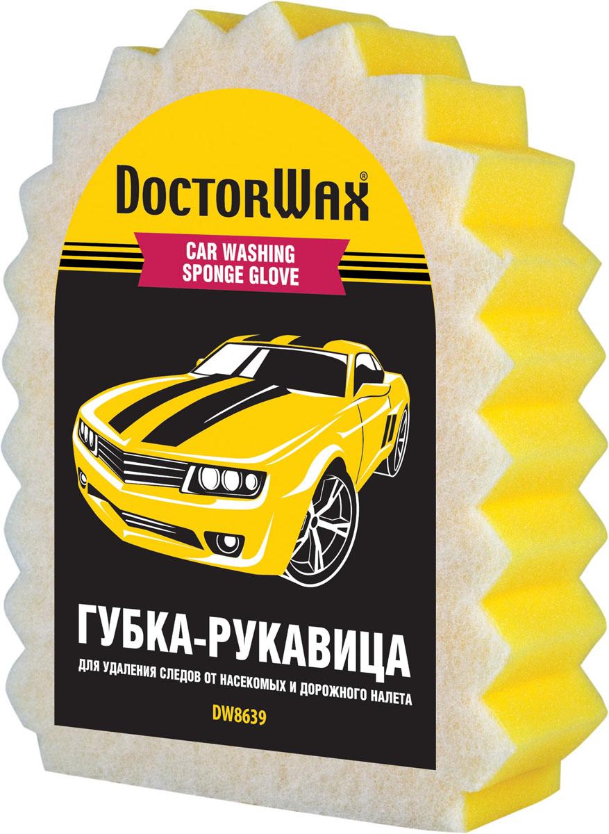 Губка автомобильная Doctor Wax Мечта лентяя, с сеткой, для удаления налета и насекомых. DW 8639 полироль защита очищающая doctor wax для старых покрытий 227 г