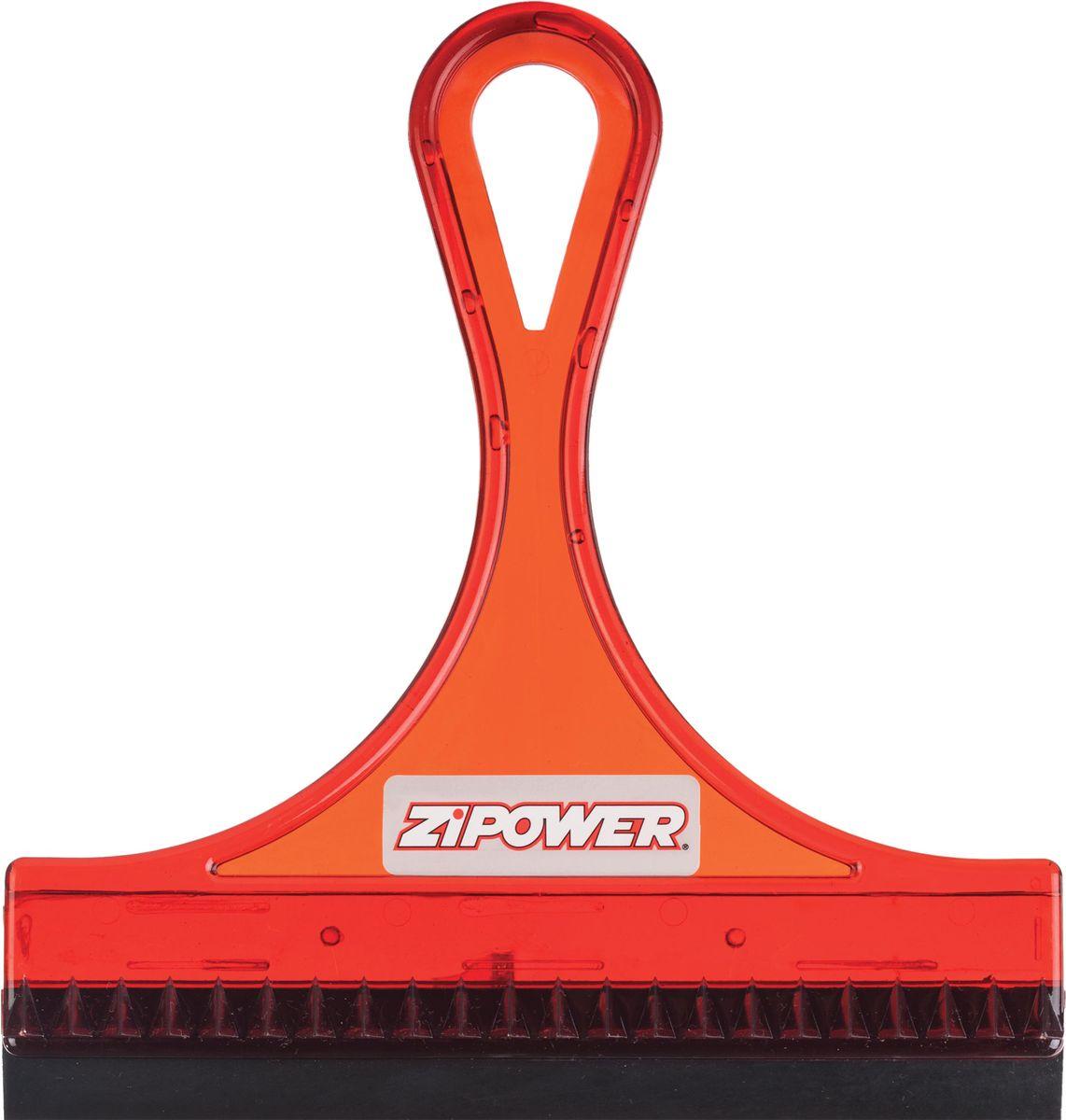 Скребок для удаления воды Zipower, резиновый, ширина 15,5 см скребок для боковых зеркал автомобиля wenko