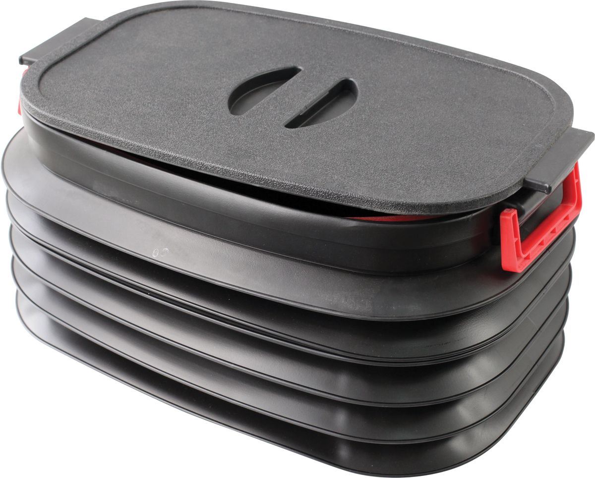 Складывающийся пластиковый органайзер Zipower. PM 4285PM 4285Складывающийся органайзер для багажника.Изготовлен из эластичного, износостойкого пластика.Высота в сложенном состоянии: 110 ммВысота в разложенном состоянии: 300 ммОбъем в разложенном состоянии: 37 л