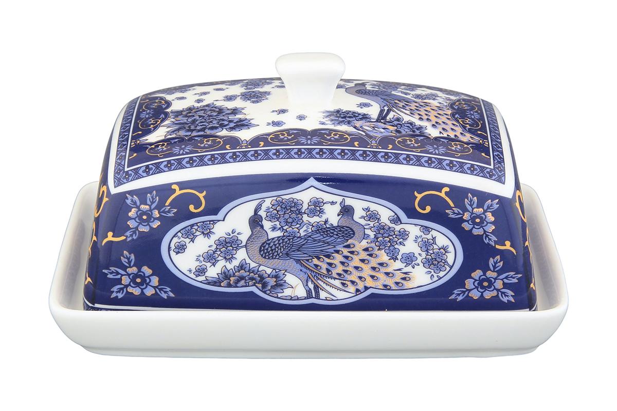 Масленка Elan Gallery Павлин. 180823180823Великолепная масленка , выполненная из высококачественной керамики, предназначена для красивой сервировки и хранения масла.