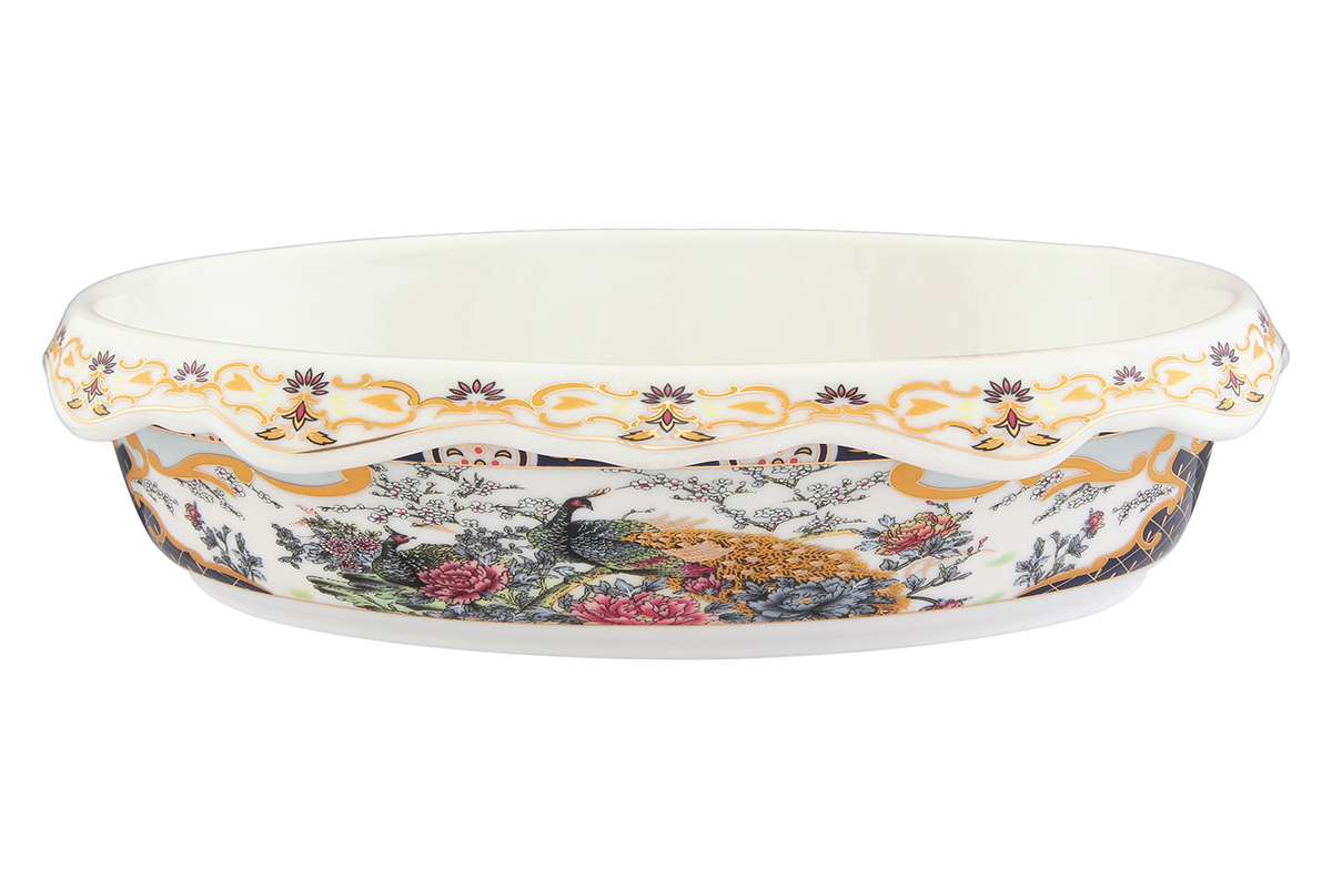 Блюдо-шубница Elan Gallery Павлин, 24 х 17 х 6 см503600Красочная посуда подарит настроение и уют, привнесет разнообразие в приготовление ваших любимых блюд и сервировку семейного стола.Владение искусством кулинарии - это умение не только вкусно готовить, но и красиво преподносить кулинарные шедевры. Очень важную роль играет, конечно же, посуда. Именно она является обрамлением блюда, его гармоничным продолжением. Посуда должна красиво дополнять пищу, подчеркивать ее аппетитность, изысканность и отменный вкус самой хозяйки. Объем блюда: 900 мл.