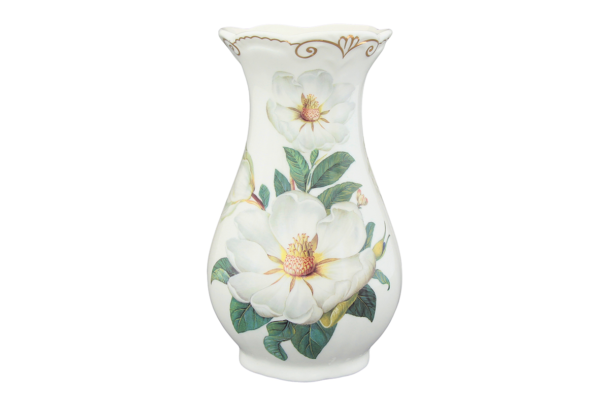 Ваза Elan Gallery Белый шиповник, высота 16 см503931Декоративная ваза станет прекрасным дополнением любого интерьера. В такой вазе любой, даже самый скромный букет будет выглядеть замечательно!Высота: 16 см.