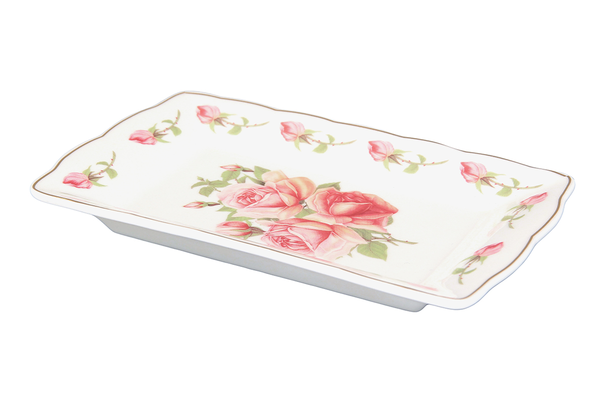 Тарелка под масло Elan Gallery Розовая фантазия503984Изящная тарелочка замечательно подойдет для сервировки масла и нарезки из сыра или мяса. Идеально будет смотреться на праздничном столе.
