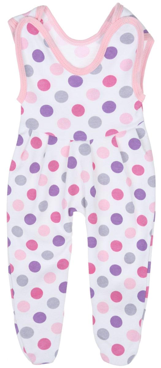 Ползунки с грудкой для девочки Трон-плюс, цвет: белый, розовый, фиолетовый. 5211_ВЛ15_горох. Размер 68, 6 месяцев5211_ВЛ15_горохПолзунки с грудкой для девочки Трон-плюс - очень удобный и практичный вид одежды для малышей. Они отлично сочетаются с футболками и кофточками, подходят для ношения с подгузником и без него. Ползунки выполнены из натурального хлопка, благодаря чему они очень мягкие и приятные на ощупь, не раздражают нежную кожу ребенка и хорошо вентилируются, обеспечивая комфорт. Ползунки с закрытыми ножками (след отрезной) застегиваются сверху на две кнопки, что помогает с легкостью переодеть малышку. Спереди модели заложены небольшие складки. Изделие оформлено принтом в крупный разноцветный горох.Ползунки полностью соответствуют особенностям жизни младенца в ранний период, не стесняя и не ограничивая его в движениях.