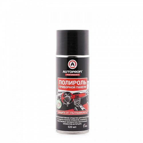 Полироль для приборной панели Autoprofi, с УФ-защитой ароматом клубники, 520 мл150407Высокоэффективное средство для обновления и защиты панели приборов, бамперов, пластиковых молдингов и внутренних элементов интерьера. Специально разработанный состав включает моющие, ароматические и антистатические добавки. Средство мягко очищает пластиковые и виниловые детали, восстанавливает блеск приборной панели, молдингов и других элементов салона. Ароматизирует салон, создает влагоотталкивающую пленку, придает обработанной поверхности антистатические свойства и препятствует оседанию пыли. Способ применения: встряхнуть флакон, равномерно нанести состав на очищенную сухую поверхность. Дать составу подсохнуть 1 минуту. Протереть обработанную поверхность сухой мягкой тканью. При необходимости повторить процедуру. Хранить в сухом проветриваемом месте при температуре от -20°С до +50°С.Продукт замерзает, но при оттаивании сохраняет все свои свойства. При замерзании состава дать оттаять, перед применением перемешать встряхиванием до однородного состояния.