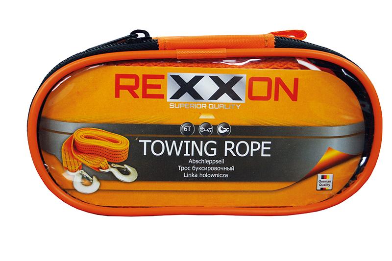 Трос буксировочный REXXON с крюками в чехле на молнии, 3,5 т, 4 м (±0,2 м)1-05-1-2-3-3