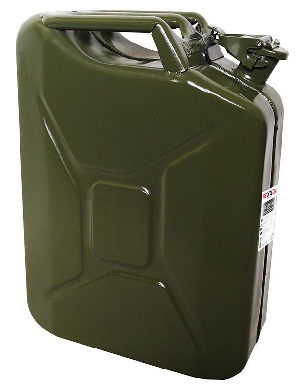 Канистра Rexxon, с разрешением для бензина, металлическая, 20 л канистра альтернатива 5 л