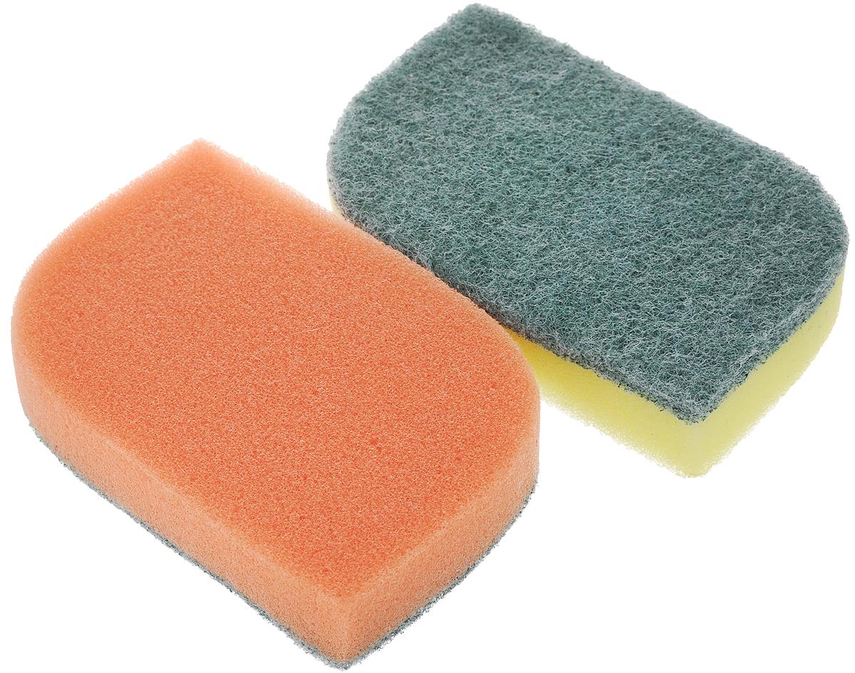 Губка универсальная Фэйт Фантазия, цвет: оранжевый, желтый, 2 шт1.4.01.007Универсальная губка Фэйт Фантазия, изготовленная из особо прочного поролона и абразива, прекрасно впитывает влагу, не оставляет ворсинок и разводов, быстро сохнет. Предназначена для мытья любых поверхностей. Размер губки: 13 х 8 х 2,5 см. Комплектация: 2 шт.
