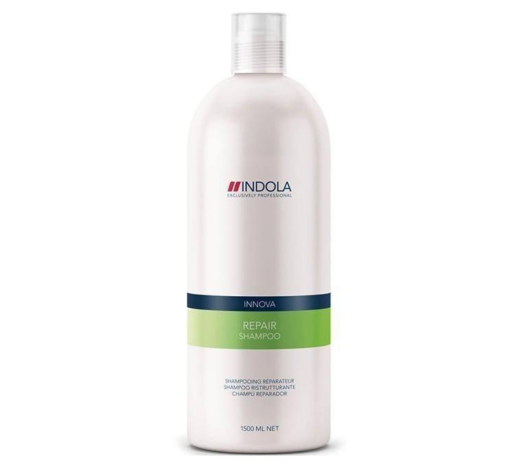 Indola Шампунь восстанавливающий для волос Innova Repair Shampooing - 1500 мл1635629/154511/СТИКIndola Innova Repair Shampoo - Шампунь восстанавливающий Поврежденные волосы нуждаются в особенно бережном очищении. Вернуть им натуральную красоту и восстановить здоровую структуру призван шампунь Indola Innova repair shampoo.Сила, мягкость, послушность и блеск волос станут результатом воздействия таких ингредиентов, как пантенол, катионовый полимер, биотин, аминокислота, витамин B3, гидролизованный белок сои.Особое место в составе шампуня занимает гидролизованный кератин, имеющий 3 направления воздействия: восстановление тела каждого волоса, поддержание здоровья и силы, придание блеска и шелковистости.