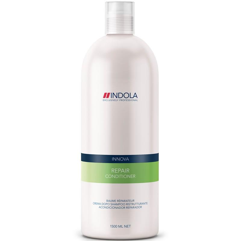 Indola Кондиционер восстанавливающий для волос Innova Repair Conditioner - 1500 мл1685636/155679СТИКIndola Innova Repair Conditioner - Кондиционер восстанавливающийКондиционер Indola repair conditioner создан специально для быстрого оздоровления поврежденных волос. Содержит восстановительный комплекс с аминокислотами, провитамином В5 и протеином пшеницы.Насыщает волосы влагой, избавляет от сухости, придает волосам здоровый внешний вид. Волосы становятся эластичными, блестящими и отлично укладываются.Кондиционер восстанавливающий Indola repair conditioner защищает волосы от вредных воздействий.