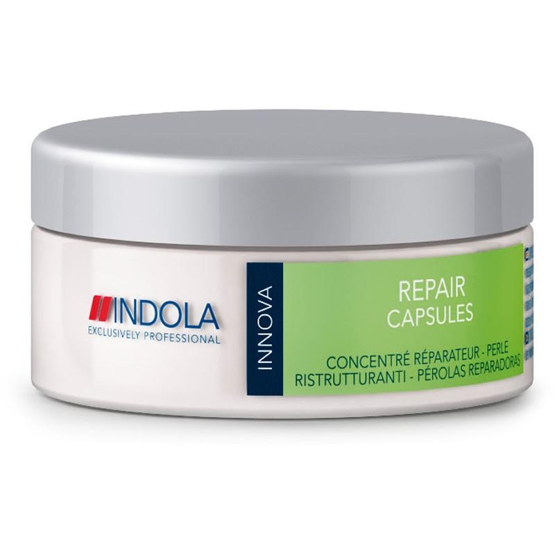Indola Восстанавливающие капсулы Repair Capsules 30 х 1 мл1508099Indola Восстанавливающие капсулы. Обеспечивают интенсивное восстановление волос. Обогащены маслом абрикосовых косточек и усиливающими блеск маслами. Восстанавливают структуру волоса, разглаживают и защищают от дальнейших повреждений. Для поврежденных волос. Рекомендуется использовать в комплексе с шампунем Indola Repair.