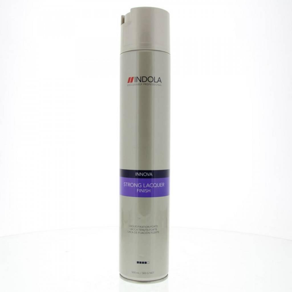Indola Лак для волос сильной фиксации Innova Finish Strong Laquer - 500 мл лаки для волос sim sensitive лак для волос mega finish сильной фиксации 300мл