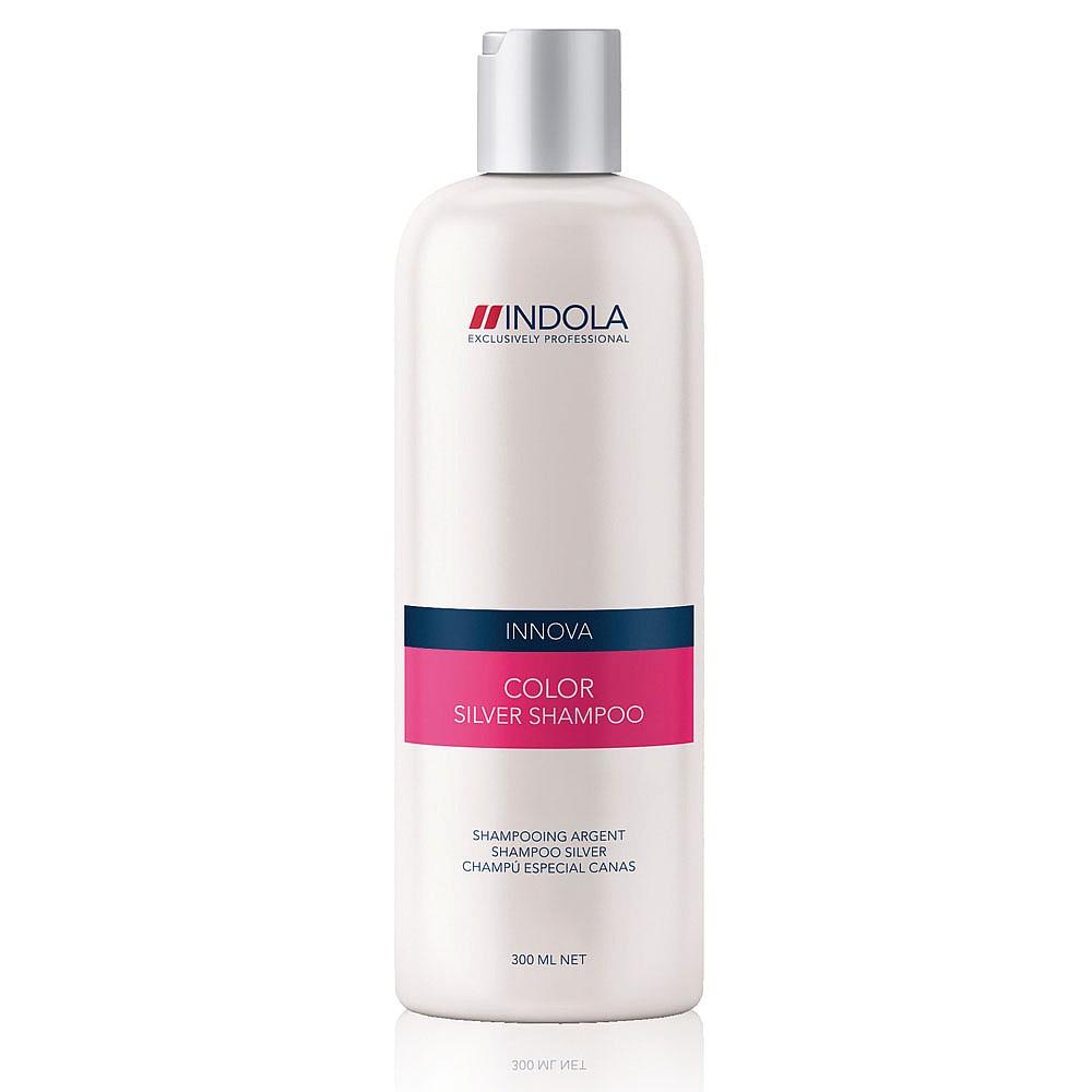 Indola Шампунь, придающий серебристый оттенок волосам Color Silver Shampoo 300 мл1508051Indola Шампунь, придающий серебристый оттенок волосам. Обогащен фиолетово-синими пигментами для нейтрализации нежелательных желтых оттенков. Усиливает серебристые оттенки светлых или седых волос. Находящийся в составе гидролизованный кератин усиливает внутреннюю структуру волоса и придает ослепительный блеск окрашенным волосам.