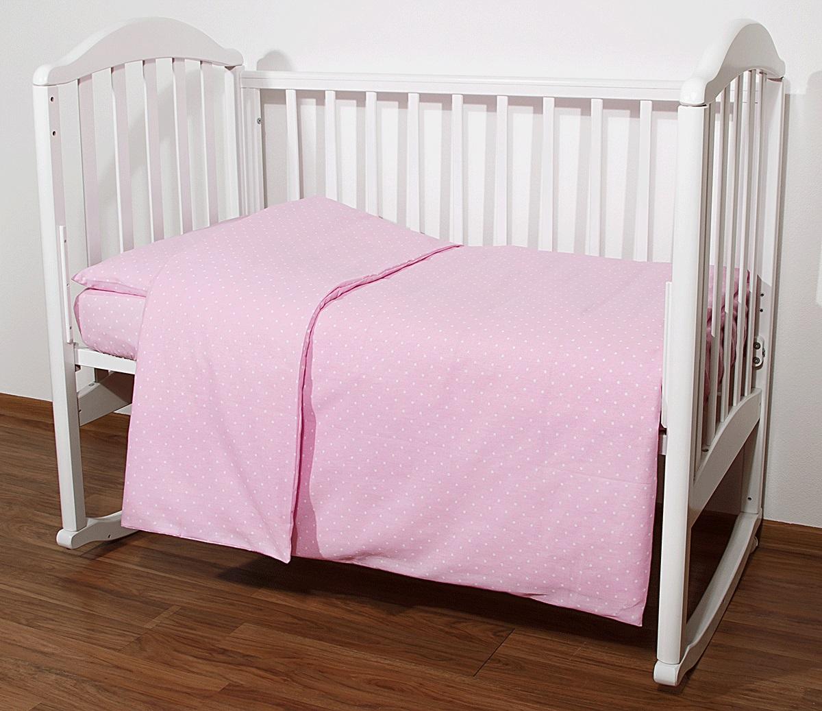Baby Nice Комплект белья для новорожденных Горох цвет розовый