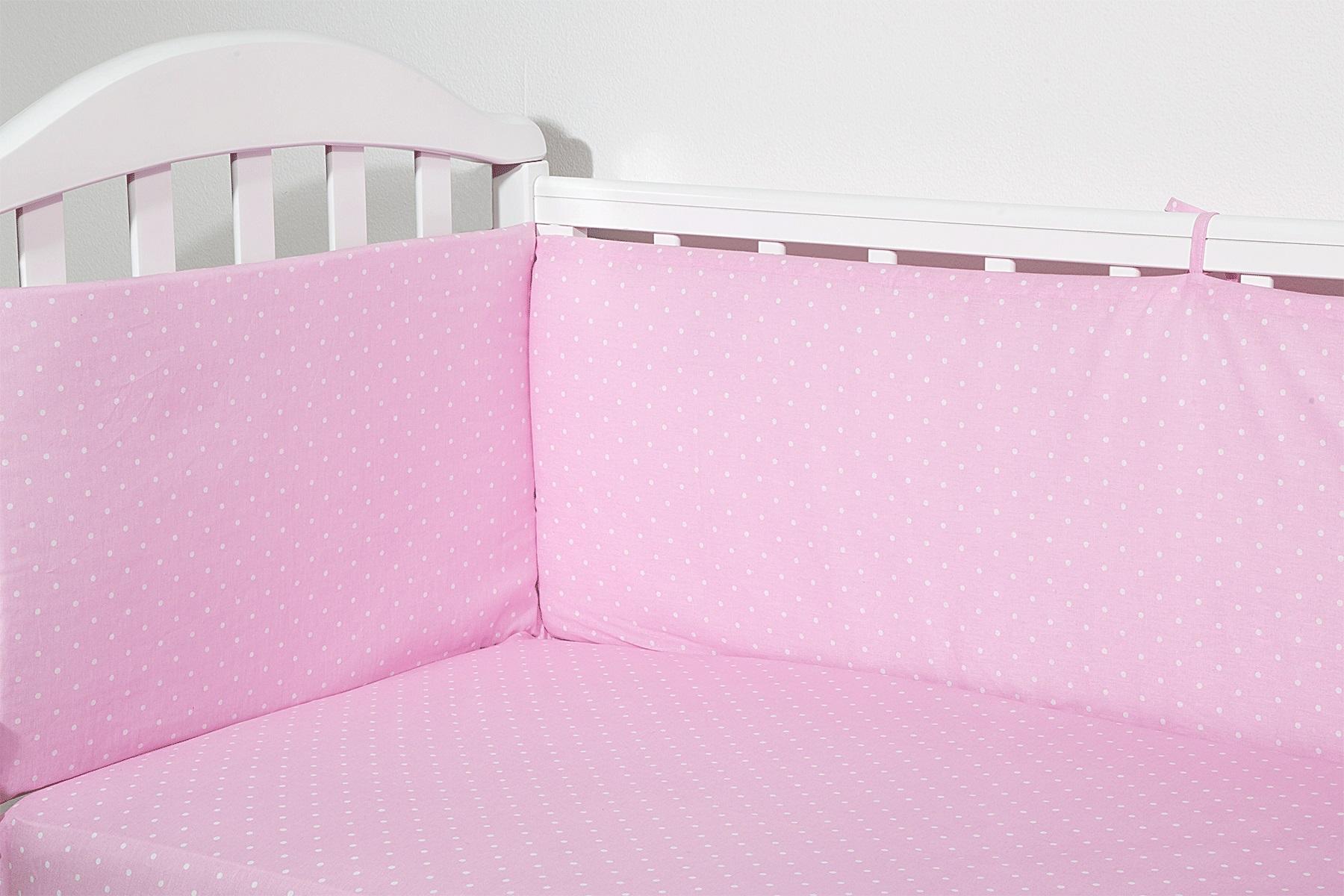 Baby Nice Бортик для кровати Горох цвет розовый