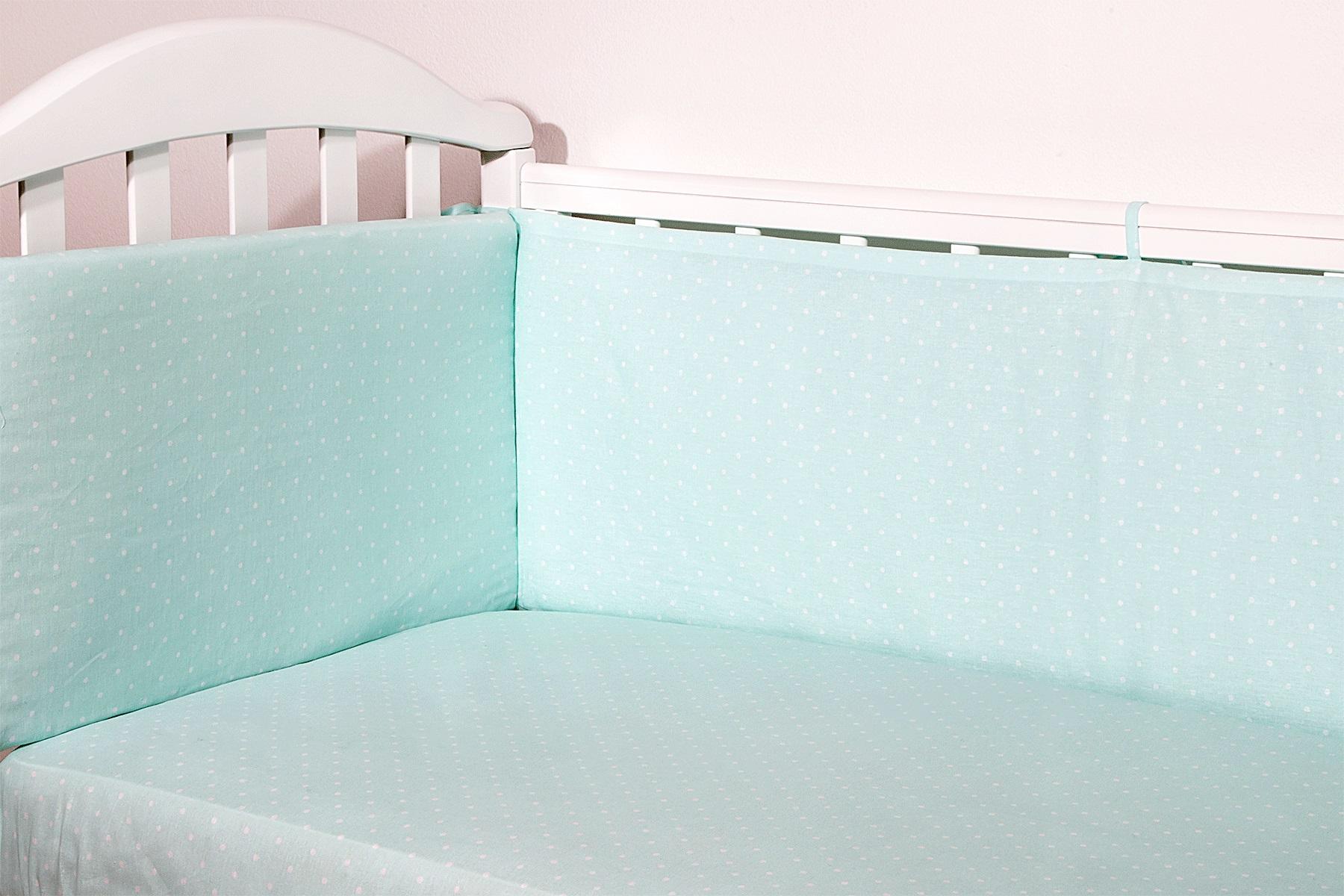 Baby Nice Бортик для кровати Горох цвет светло-зеленый -  Бортики, бамперы