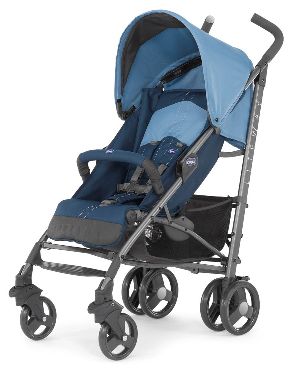 Chicco Коляска прогулочная с бампером Lite Way Top 2 цвет синий коляска 2 в 1 chicco trio stylego red passion